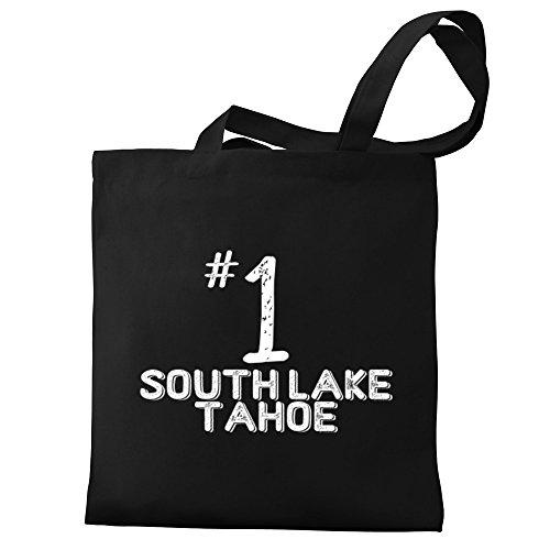Eddany Number 1 South Lake Tahoe Canvas Tote - South Lake Shopping Tahoe