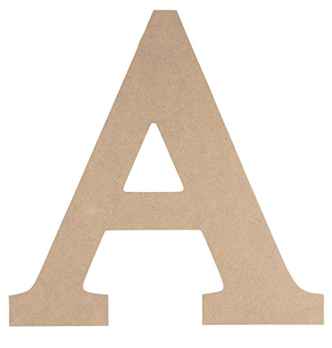 Wooden Greek Letter - Unfinished Wood Letter A for Alpha, Paintable Greek Font for DIY, Home, College, Sorority, Fraternity Decoration, 11.5 x 11.625 x 0.25 inches