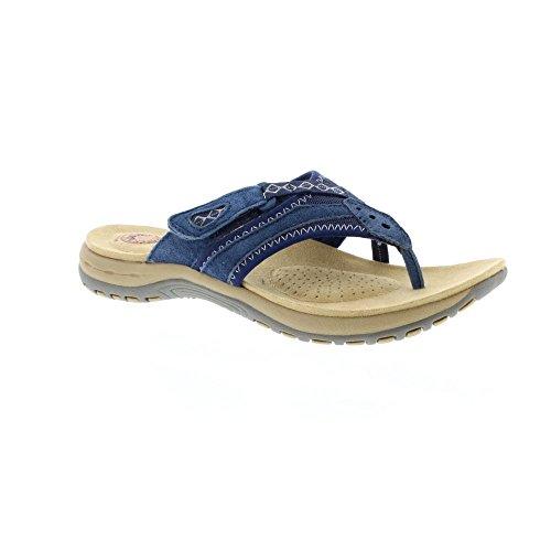 Post Spirit Earth Blue Ladies Juliet White Toe Sandals qP8I8dw