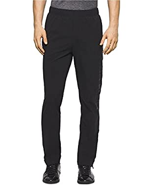 Calvin Klein Men's Drawstring Woven Track Pant with Ankle Zipper