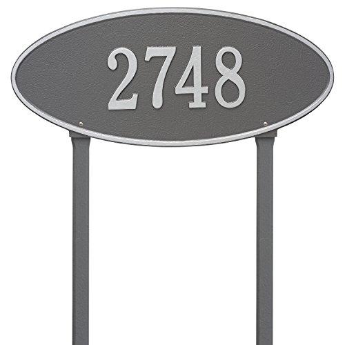 - Madison Estate Lawn Address Plaque Color: Pewter/Silver Letters