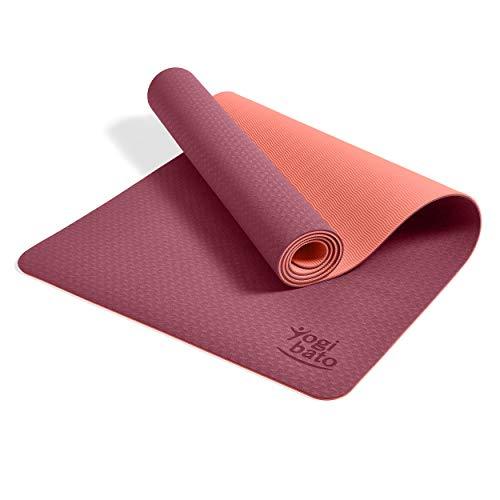 Yogibato Yoga Mat TPE – anti-slip gymnastiekmat Sport Mat – mat met draagriem voor gymnastiek Pilates Sport & Fitness…
