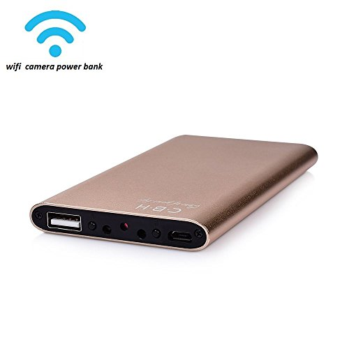 Focuskylife Wi-Fi Spy Camera Power Bank 1080P Wireless Hidden Camera Portable DVR Nanny cam, Real time Video Remote View Motion Activated support Smartphone App [ ios/android ], (Spy Portable Dvr)