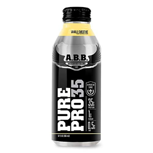 American Body Building Pure Pro 35, Vanilla Smoothie, 12-Ounce Bottles (Pack of 12)