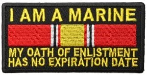 """Marine Oath of Enlistment Has No Expiration Date by Ivamis Trading 4/"""" x 2/"""" P5880"""