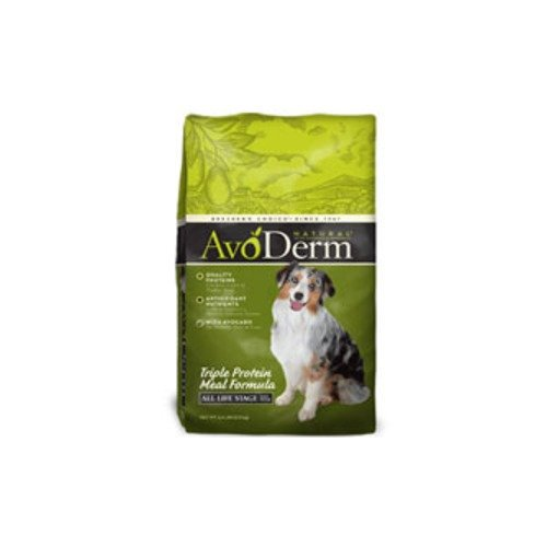 AvoDerm Natural Triple Protein Meal Formula Adult Dry Dog Food