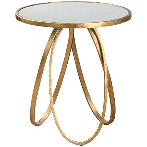 Collection Grace Feyock (Uttermost 24410 Montrez Accent Table, Gold)