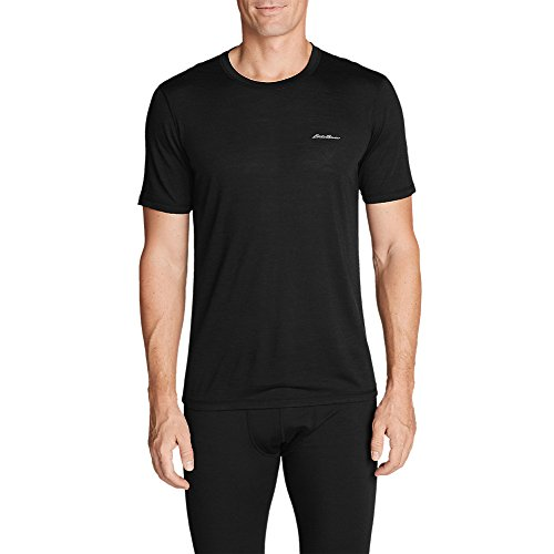 Eddie Bauer Men's Lightweight FreeDry Merino Hybrid Baselayer Short-Sleeve Crew (Mens Bauer Underwear)
