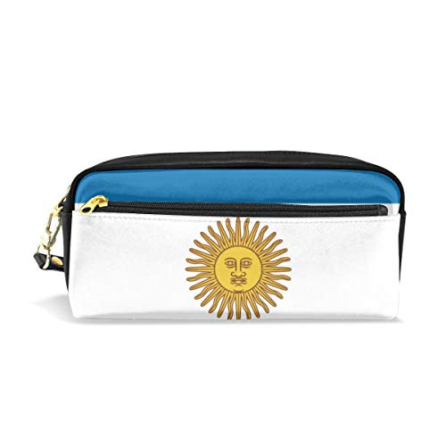 Multifunction Durable Cosmetic Bag Argentina Flag Pencil Bag Pouch Bag Case Makeup Bag ()