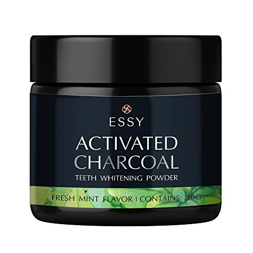 Teeth Whitening Coconut Activated Charcoal Powder- Food Grade –Fresh Mint Flavor (30g)