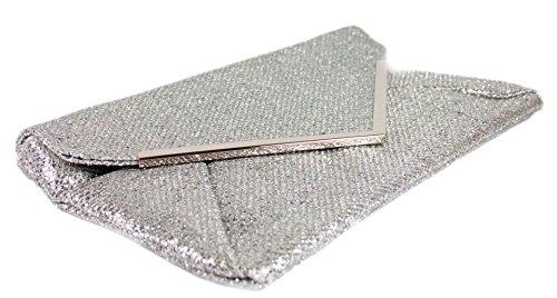 Girly argéntée brillante Handbags Pochette métal argent de et soirée PgPrxH