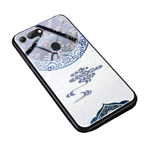 - Zerrul Tempered Glass Phone Case for Honor 8X 10 9 8 Lite 7X Play V10 V9 9i V20 Magic2 Chinese Style for Honor Luxury Back Cover,Brocade Flower,for Honor 9 Lite