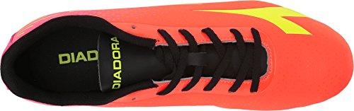 Diadora Unisex 7-Tri MG14 Fluoreszierendes Rot / Fluoreszierendes Gelb