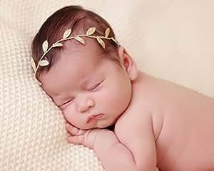Gold Color Leaf Wrap Headband with Swarovski Rhinestones