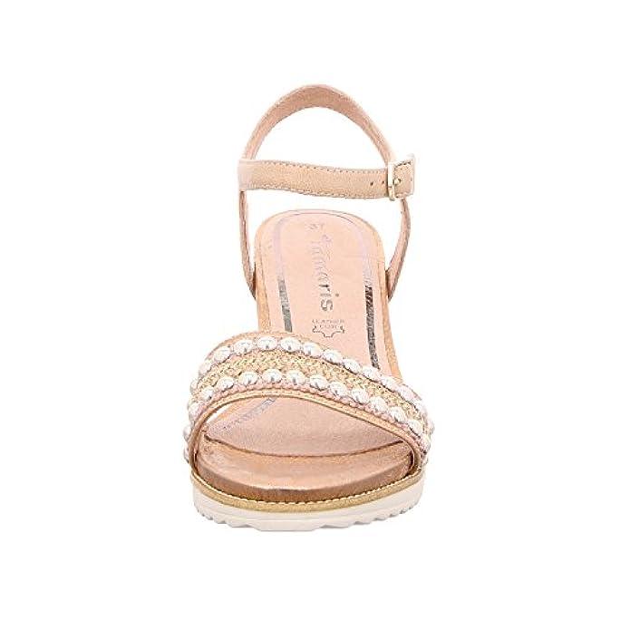 Scarpe E Borse Da Donna Sandali Tamaris Sandalia Cuña Perlas Rose Comb T-36