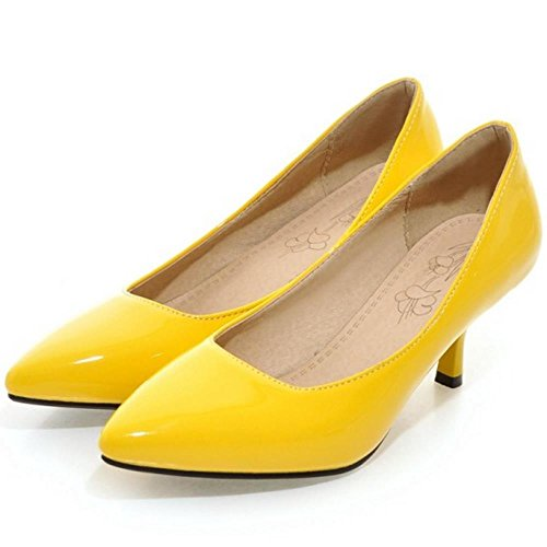 Femmes Escarpins Pointu JOJONUNU Femmes Yellow JOJONUNU fItqExwq