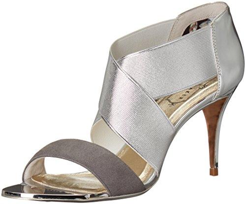 Ted Baker Women's Leniya Lthr Af Silver Dress Sandal Silver