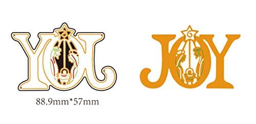 VT BigHome 8.9x5.7cm Joy Word Christmas Dies Metal Cutting Dies 2018 Dies Scrapbooking Die Cuts Background Craft