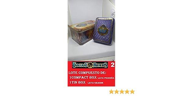 FANTASY RIDERS 2 PANINI Lote de 1 Compact Box mas 1 Tin Box ...