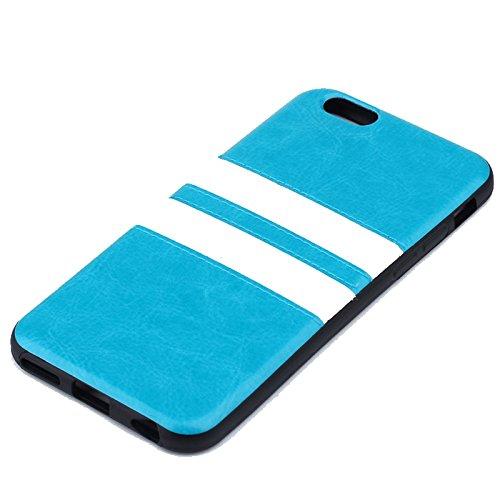 "Apple iPhone 6 4.7"" TPU Case Double Stripe Sport Streifen Cover Hülle Blau"
