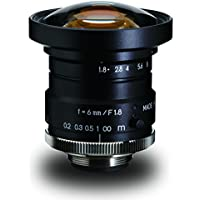 Kowa LM6HC 1 6mm F1.8 Manual Iris C-Mount Lens, 2-Megapixel Rated