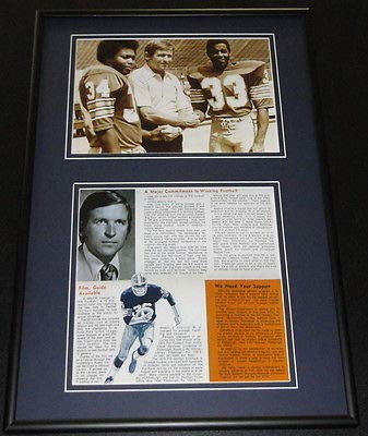 1977 Johnny Majors Pitt Panthers Football Framed Repro Brochure & Photo Set