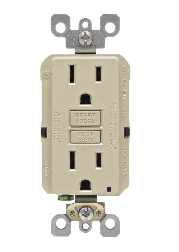 - Leviton N7599-I 15-Amp 125-Volt SmartLock Pro Slim Non-Tamper-Resistant Duplex GFCI Receptacle, Ivory