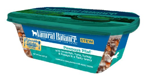 Dick Van Patten's Natural Balance Delectable Delights Pawpaya Pilaf Dog Stew, 8-Ounce, Case of 12, My Pet Supplies