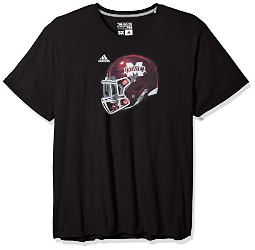 NCAA Mississippi State Bulldogs Men's 2017 Helmet Ultimate Short Sleeve Tee, Large, (Bulldog Helmet)