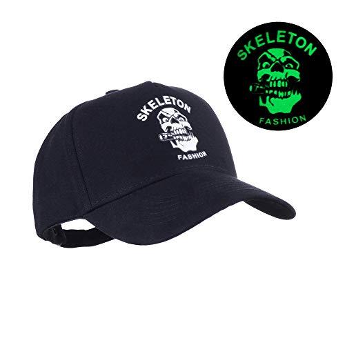 (Snapback Baseball Cap Glow in Dark Skull Skeleton Trucker Hat (A12-skull))