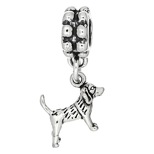 Dog 3d Sterling Silver Charm - 7