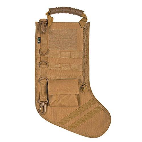 RUCKUP RUXMTSK Tactical Christmas Stocking, Khaki, Full,]()