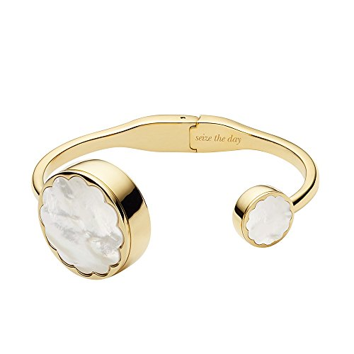 kate spade new york scallop gold-tone and white mother-of-pearl hinge bangle activity - Hinge York
