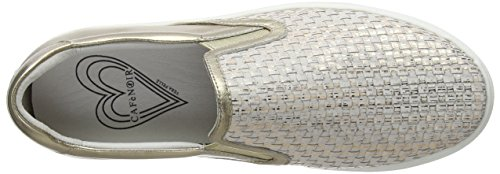 Cafènoir Ladies Kdd428 Sneaker Alta Oro (platino)