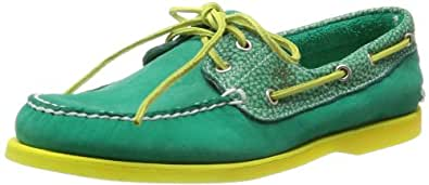 Timberland CLS2I Classic Boat Mens Leather Deck Shoes-Green-6