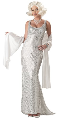 California Costumes Women's Platinum Marilyn Costume,Silver,Large