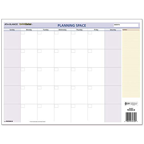 AT-A-GLANCE 2020 Monthly & Yearly Wall Calendar, QuickNotes, 16
