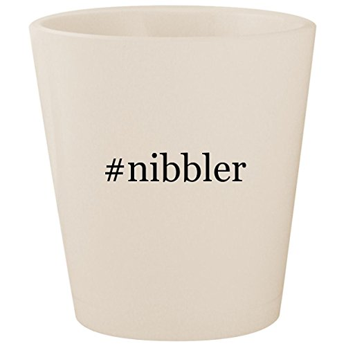 #nibbler - White Hashtag Ceramic 1.5oz Shot Glass