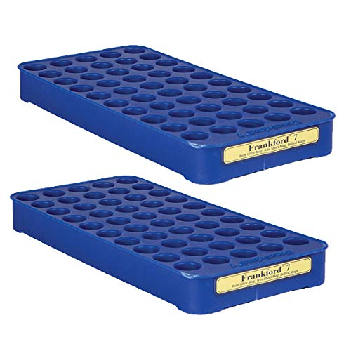 Frankford Arsenal Reloading Tray for Convenient 50 Round Brass Storage, 7 (2 Pack)