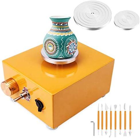 Keramik Arbeit mit 6,5 cm und 10 cm Plattenspieler DIY Clay Tool f/ür DIY Kunsthandwerk PAKASEPT Mini T/öpferscheibe 2000 U//min Keramikmaschine