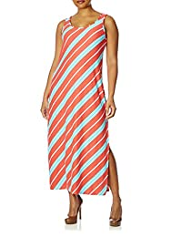 Love Collection Maxi Dress for Women - Plus Size, Spandex, Striped Print