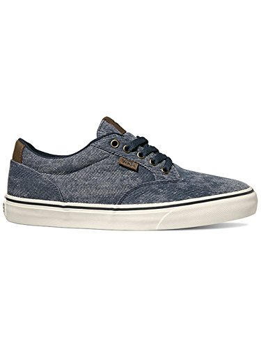 Vans Wiston Sneakers Scarpe Unisex Navy Skate (Washed Twill) Navy/Marsh qfrbL6W7T