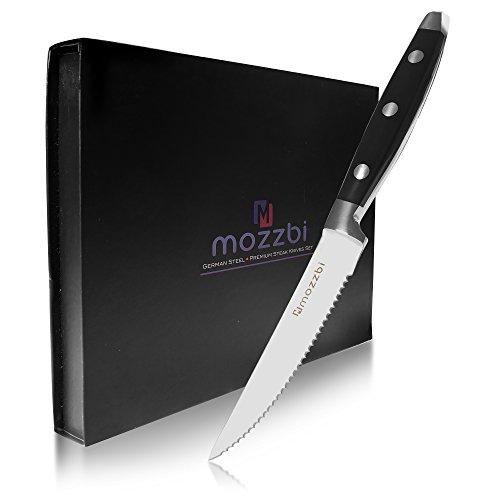 Premium Serrated Steak Knives 6-Piece Laser Cut Ultra-Sharp Stainless Steel Steak Knife, Cutlery Set,Dinner Knives Gift Set By Mozzbi. by Mozzbi (Image #1)
