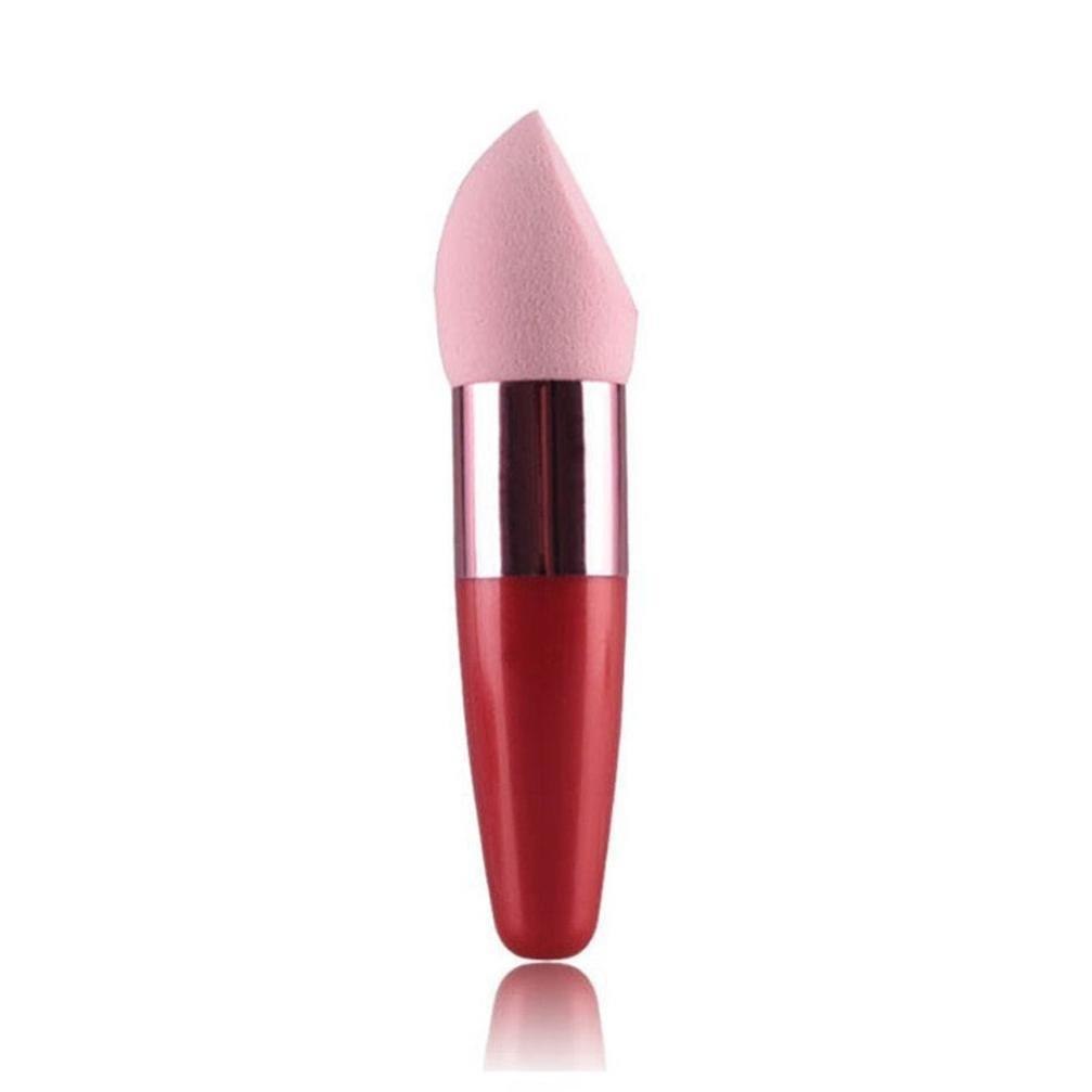 Sumen Makeup Cosmetic Brushes Kabuki Face Blush Brush Powder Liquid Cream Foundation Concealer Sponge Lollipop Brush 10.3cm (Hot Pink)