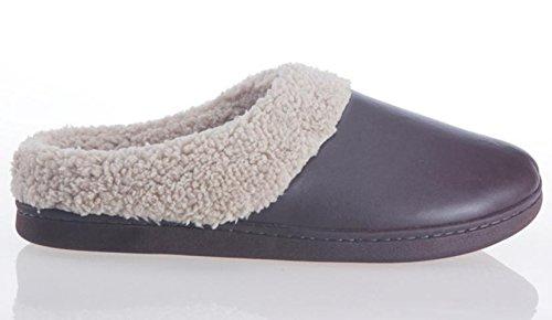 cotone Slip Scarpe uomo per Pantofole On Warm Home W interni da 42 xy Slip Export di Fluff XYfqv8