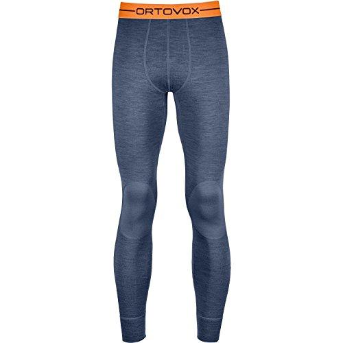 Blue Expedition Pant (Ortovox Men's Rock'N'Wool 185 Long Pants Night Blue Blend L)