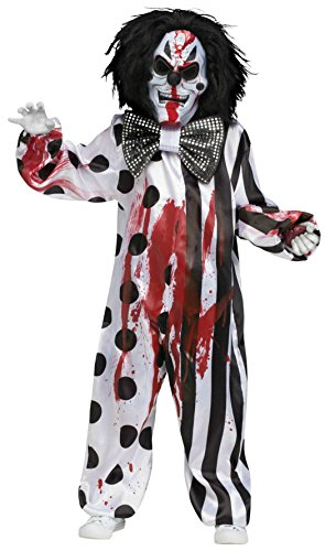 Kid Killer Clown Costume (Bleeding Killer Clown Costume (12-14))