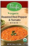 Pacific Foods, Organic Roasted Red Pepper & Tomato Bisque (Pack of 12)