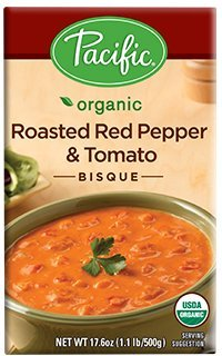 - Pacific Foods, Organic Roasted Red Pepper & Tomato Bisque (Pack of 2)