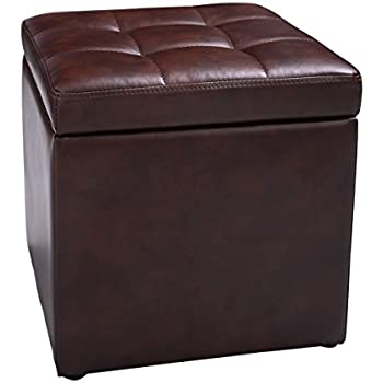 Amazon Com New Cube Ottoman Pouffe Storage Box Lounge